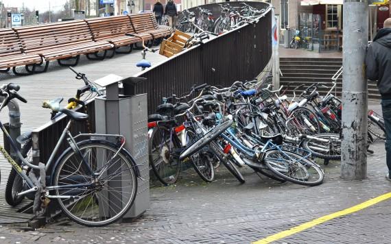 Fietsen in de stad Den Haag